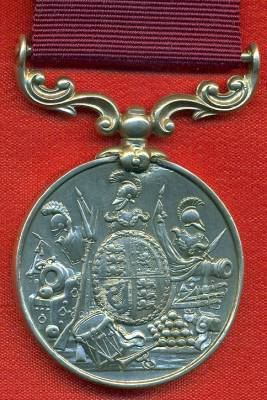 Army Long Service and Good Conduct Medal Victoria issue, 2nd type 1855-1874 with swivelling scroll suspension. 53 Sergeant Mali. Delaney, 2nd Bn. 25th Foot