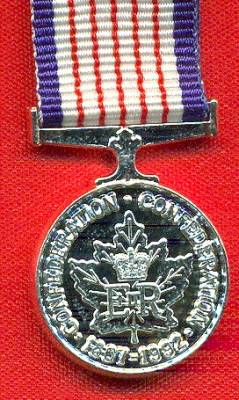 125th Anniversary of the Confederation of Canada Medal.  (miniature)