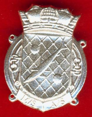 Royal Naval Patrol Services Badge, Copy in silver no pin, for stitching onto sleeve.