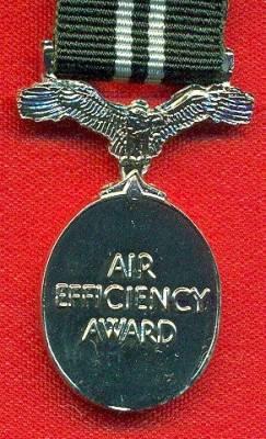 Air Efficiency Award 1942 Elizabeth II issue, Good quality modern issue. Silvered base metal.  (miniature)
