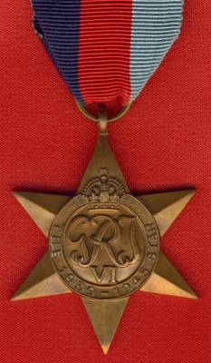 1939-45 Star, Unnamed as issued.