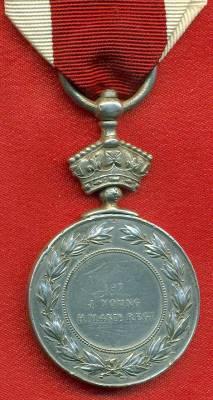 Abyssinian War Medal 1867-1868. 197 J. Young, 45th Regiment
