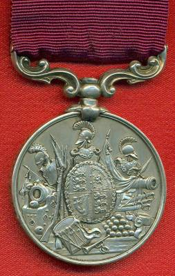 Army Long Service and Good Conduct Medal Victoria issue, 3rd type 1874-1901, swivelling scroll suspension with smaller reverse lettering. 1532 Private S. Shipton, Royal Irish Rifles