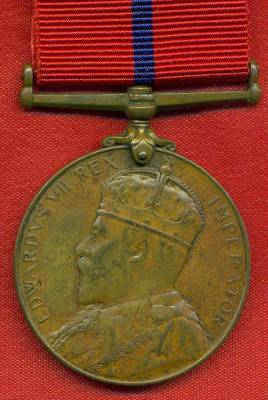 Coronation Medal 1902 Police Ambulance Service issue in bronze (204). Lance Corporal A. Allen, Police Ambulance Service