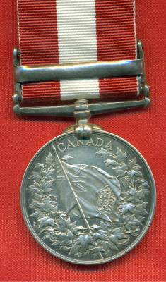 Canada General Service Medal 1866-1870, 1 clasp, Fenian Raid 1866. 546 Private H. Irons, 4th Bn. Rifle Brigade