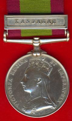 Afghanistan Medal 1878-1880, 1 clasp, Kandahar. Havildar Ram dass, 24th Regiment N.I.