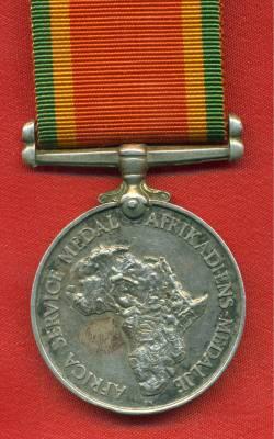Africa Service Medal 1939-1945. 161739 J.N. Nel