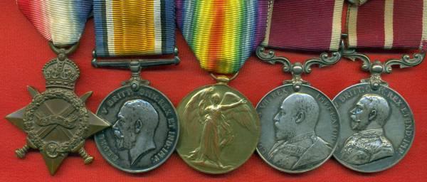 1914-15 Star, (57133. C.S.Mjr. R.E.). 57133 / 19753 Company Sergeant Major H.J. Burridge, Royal Engineers