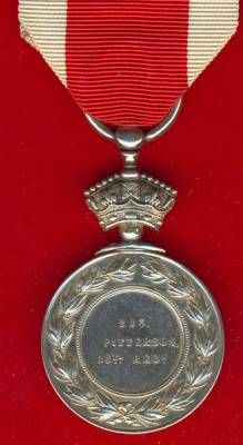 Abyssinian War Medal 1867-1868. 213 J. Patterson, 26th Regiment