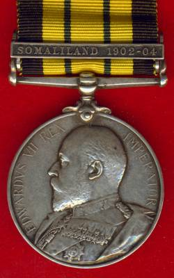 Africa General Service Medal 1902-1956 Edward VII, 1 clasp, Somaliland 1902-04. Captain H. W. O. Fletcher, East Lancashire Regiment & Kings Afican Rifles