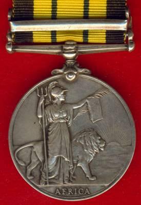 Africa General Service Medal 1902-1956 Edward VII, 1 clasp, Somaliland 1902-04. Captain H. W. O. Fletcher, East Lancashire Regiment & Kings Afican Rifles